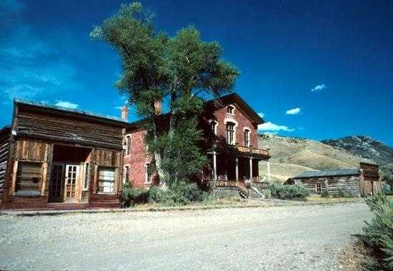 Bannack is a ghost town in Montana that is supposedly haunted by executed outlaws and a woman in a blue gown.