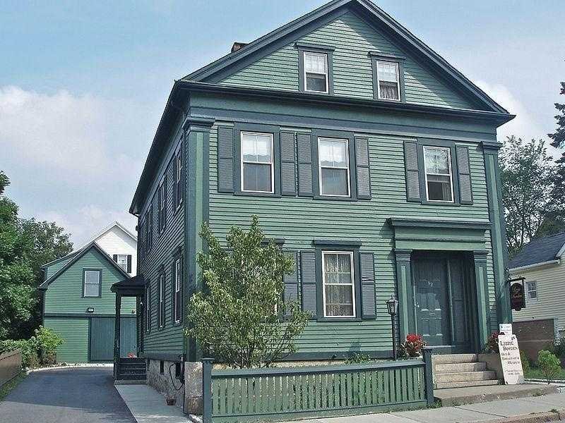 The site of a double murder and currently a bed and breakfast, the Lizzie Borden House in Fall River, Mass., is said to be the most haunted house in the country.