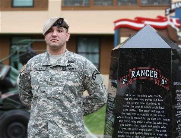 Leroy Petry: U.S. Army, War in Afghanistan: As part of the 75th Ranger Regiment, Petry was engaged and wounded by enemy fighters while clearing the courtyard of a house containing high-value combatants. He threw a grenade away from his fellow Rangers, but it detonated, amputating his right hand at the wrist.
