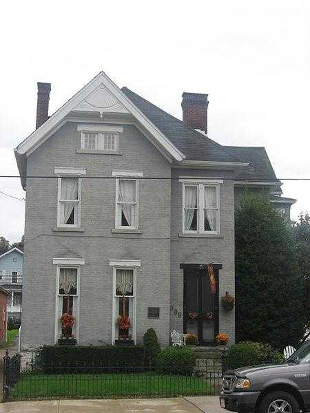 The Edward G. Acheson House is located at 908 Main Street, in Monongahela in Washington County.