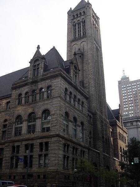 The Allegheny County Courthouse is a government building of Allegheny County that is located in Pittsburgh.