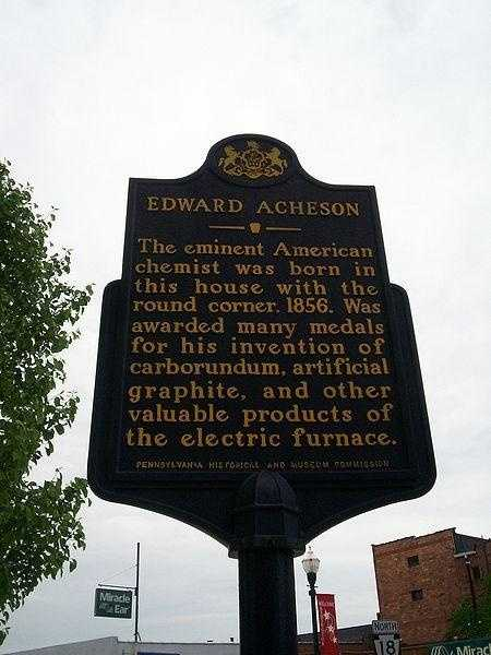 It was the home of self-taught inventor and engineer Edward Acheson from 1890-1895, and declared a National Historical Landmark in 1976.