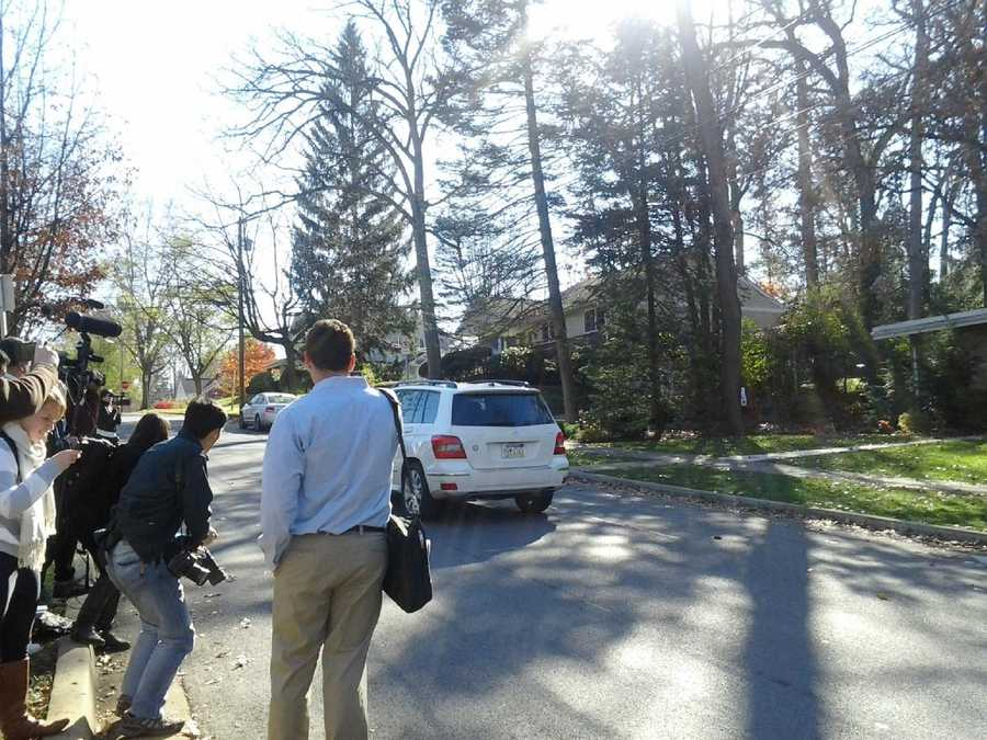 Members of the media have staked out the Paterno home.