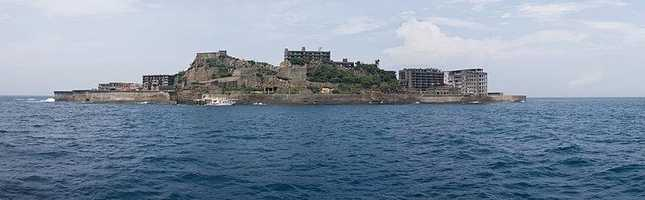 Gunkanjima, also known as Hashima Island, is one of the 505 uninhabited islands in Japan.