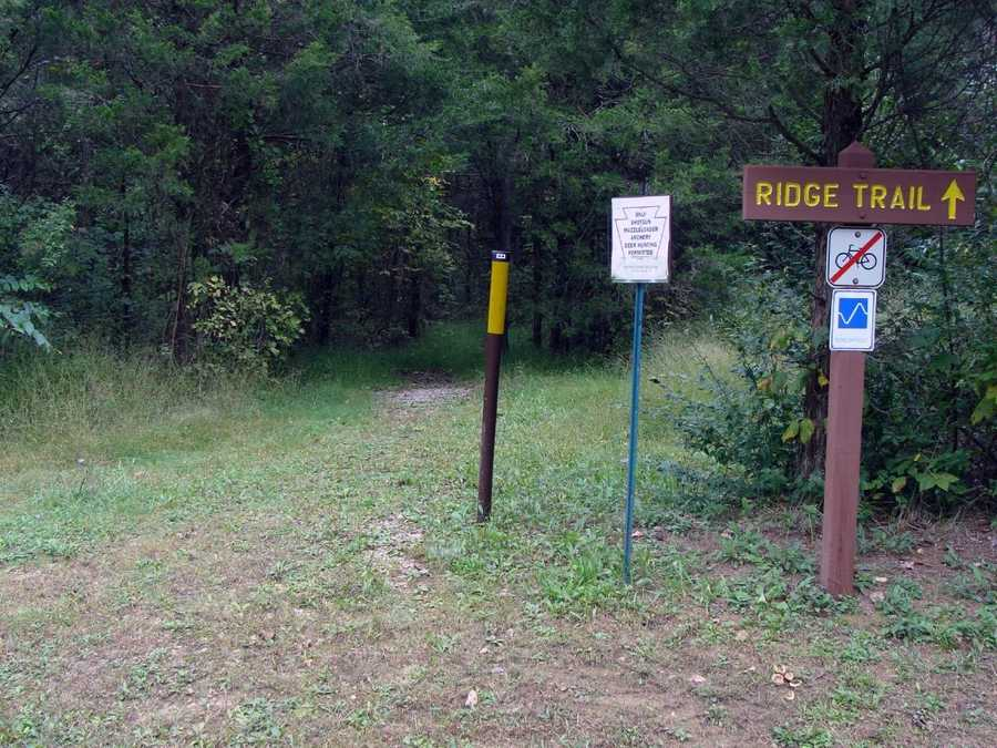 The Ridge Trail is 1.2 miles of difficult hiking.