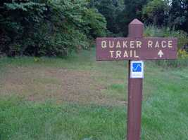 The Quaker Race Trail is 1.7 miles of difficult hiking.