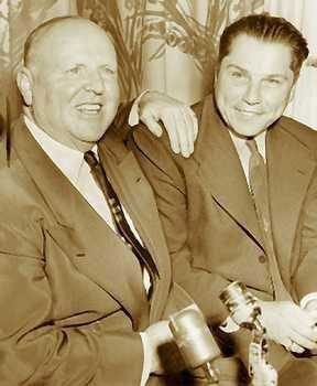 4. Deposed Teamsters president Jimmy Hoffa (right) vanished in July 1975 from a Detroit restaurant, and guessing where his corpse is has become a popular pastime.
