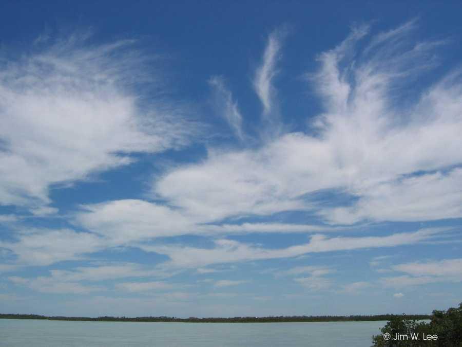 1. High clouds (cirrus)