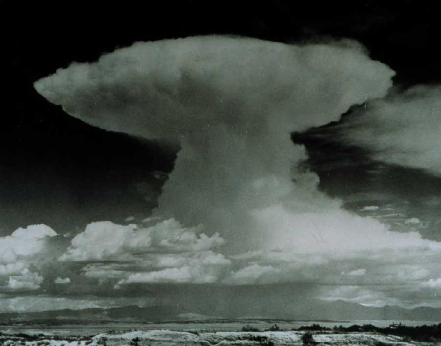 High winds can flatten the top of a cloud to make it look like an anvil, which usually points in the direction the storm is moving.