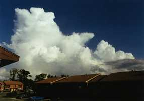If the atmosphere is unstable, it may become thunderstorms later in the day.