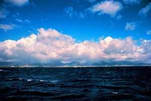 Cumulous congestus is a cloud that displays vertical development, but is not yet a thunderstorm.
