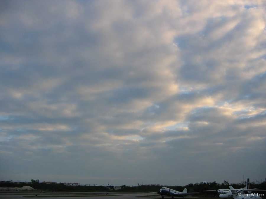 Stratocumulus clouds are low, puffy and gray.