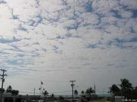 Altostratus clouds are gray or blue-gray clouds made up of ice crystals and water droplets.