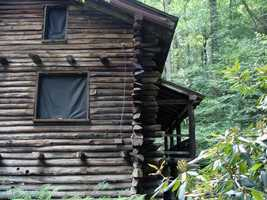 Armar Bordner spent two-and-a-half years building the cabin.