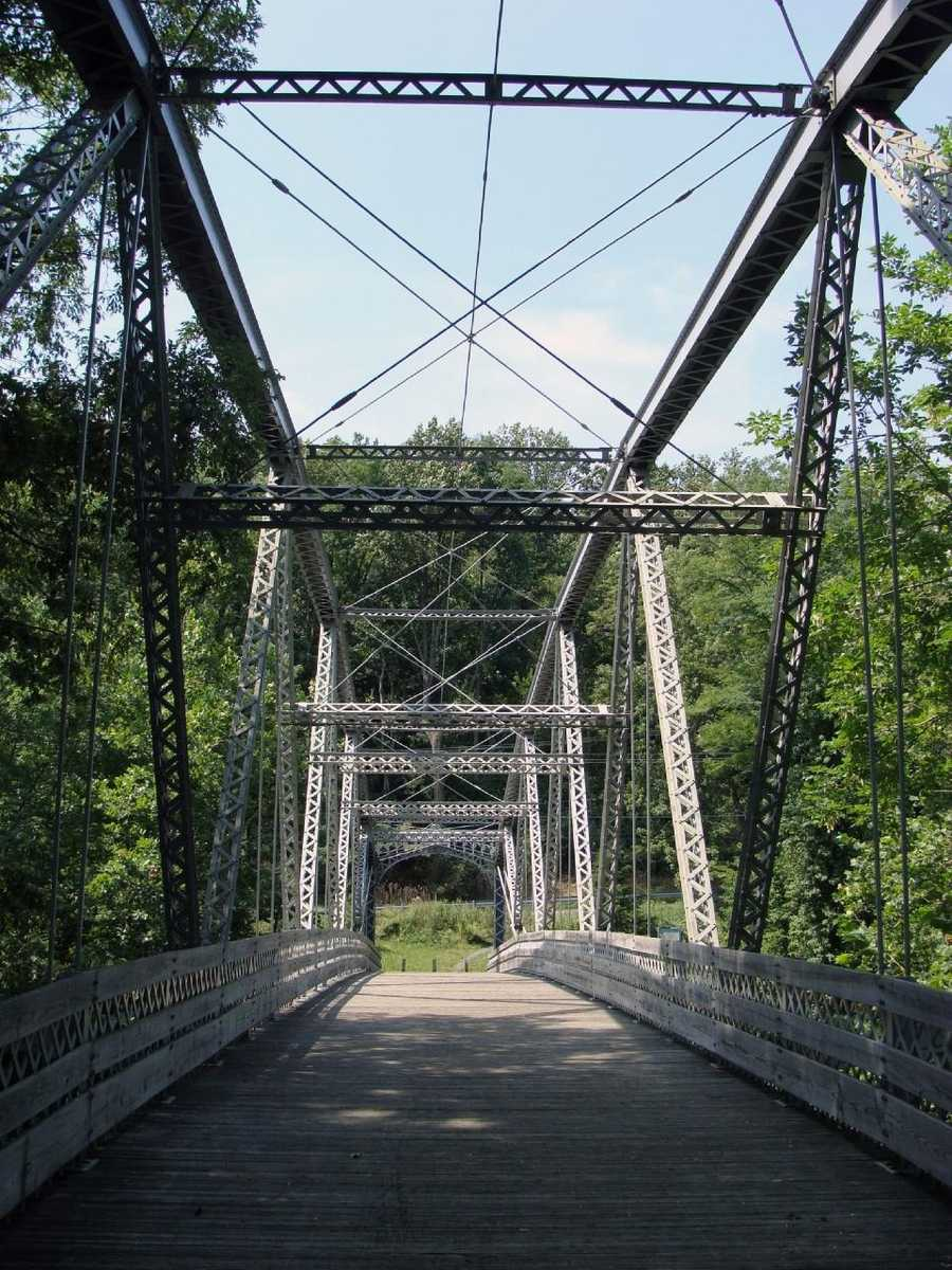 In the 1980s, the bridge was determined to be too narrow for modern use. Instead of being demolished, the bridge was dismantled, repaired, moved and rebuilt across the Swatara Creek to allow hikers on the Appalachian Trail to cross the stream.