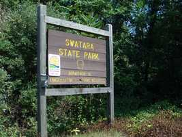 The 3,520-acre Swatara State Park consists of rolling fields and woodlands in the Swatara Valley between Second and Blue mountains.