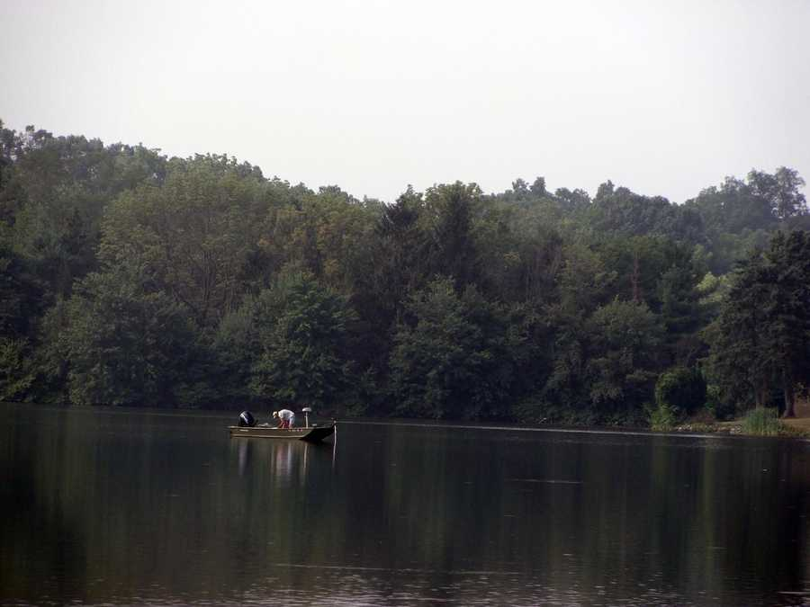 Anglers can access the lake from the shoreline by wading or by boat.