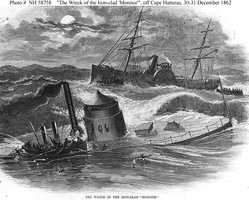 The Monitor sunk in a storm off Cape Hatteras on Dec. 31, 1862.