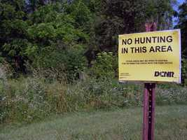 About 300 acres of the park are open to hunting, trapping and the training of dogs during established seasons. Common game species are deer, turkey, grouse, rabbit, pheasant and squirrel. Hunting woodchucks, also known as groundhogs, is prohibited.