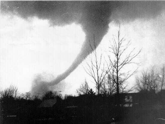 14. 1974 (366 deaths): The Super Outbreak from April 3-4 accounted for almost all tornado-related deaths in 1974. There were 148 confirmed tornadoes in 13 states during the 24 hours, and extensively damaged approximately 900 square miles. With a death toll of over 300, the outbreak surpassed previous and succeeding events in severity, longevity and extent.