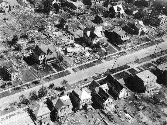 13. 1924 (376 deaths): An outbreak in April of 1924 produced at least 26 significant tornadoes across the Southern and Southeastern states, leaving over 110 dead. The most severe damage was seen in parts of Georgia, South Carolina, North Carolina, and Virginia.