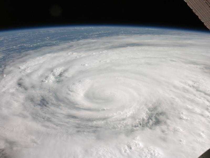 Hurricane Ike covered more than half of Cuba in this image, taken by the Expedition 17 crew aboard the International Space Station. Ike came ashore in Texas at 2:10 a.m. CDT, Sept. 13 and brought a wall of water over 20 feet high, sweeping through Galveston Island, and on the mainland. The storm made landfall with sustained winds near 110 mph, just 1 mph short of a Category 3 hurricane.