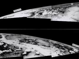 On March 7, 1947, not long after the end of World War II and years before Sputnik ushered in the space age, a group of soldiers and scientists in the New Mexico desert saw something new and wonderful in these grainy black-and-white-photos -- the first pictures of Earth as seen from altitude greater than 100 miles in space. Just the year before in 1946, scientists like John T. Mengel, a NASA pioneer who later oversaw the Vanguard Program, began experimenting with captured German V-2 rockets.