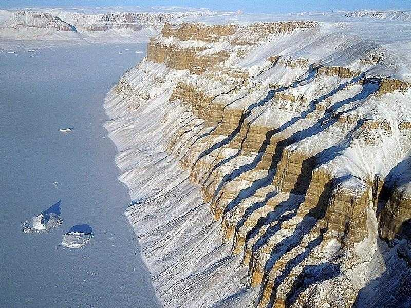 On March 29, 2011, Operation IceBridge flew between deep canyons and over glaciers along the northwest coast of Greenland. IceBridge, now in its third year, makes annual campaigns in the Arctic and Antarctic where science flights monitor glaciers, ice sheets and sea ice.