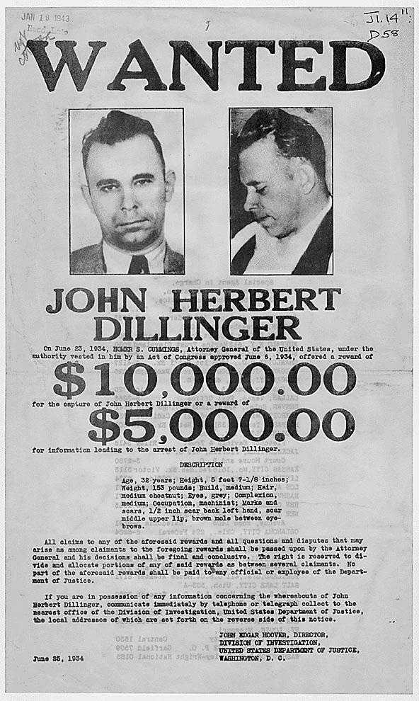 There is only one kill that is documented to have been by the hand of John Dillinger, Jr., but the notorious bank robber robbed two dozen banks and four police stations. The gangster escaped jail twice and evaded police in four states for almost a year, but Dillinger was shot and killed outside the Biograph Theatre in Chicago, Illinois on July 22, 1934.