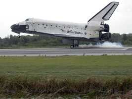 On its final flight before retirement, Discovery delivered the final pair of power-generating solar array wings and the S6 truss segment on the STS-119 mission. The mission was the 28th flight to the station, the 36th flight of Discovery and the 125th in the Space Shuttle Program, as well as the 70th landing at Kennedy.