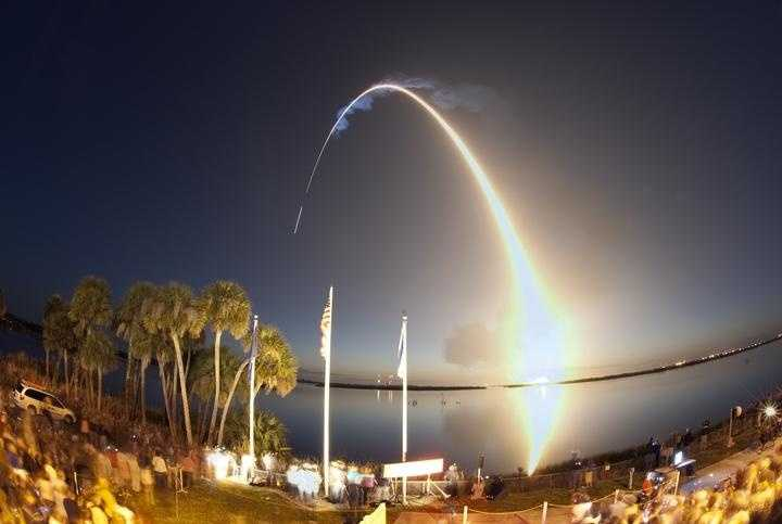 Time-elapsed photography captures space shuttle Discovery's path to orbit. Liftoff from Launch Pad 39A at NASA's Kennedy Space Center in Florida was at 6:21 a.m. EDT April 5 on the STS-131 mission.