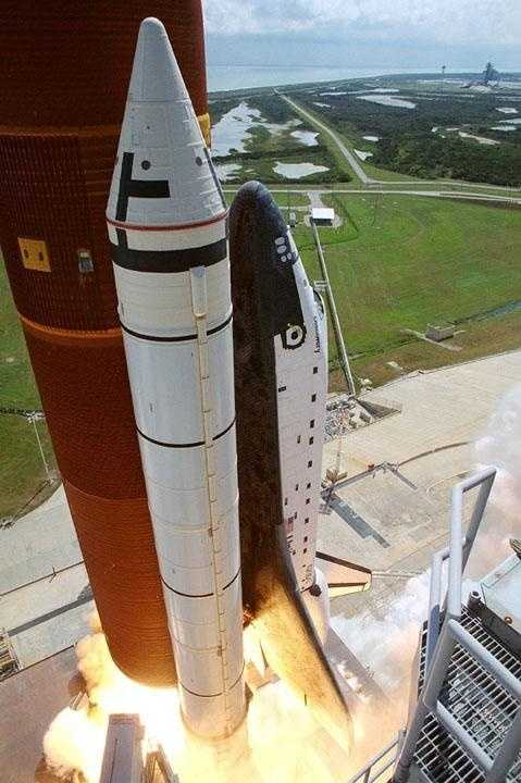 The Space Shuttle Discovery and its five-man crew is launched from pad 39B as STS-26 embarked on a four-day mission, marking America's return to space