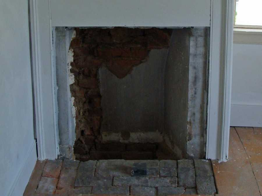 And here is a closeup of the second-floor bedroom fireplace.