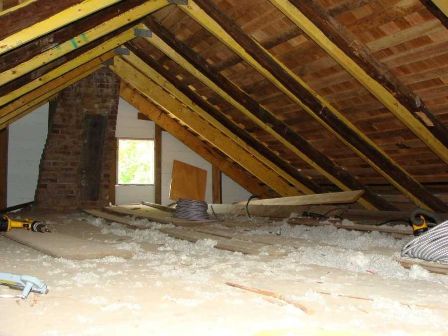 The Klingel attic is quite different today. It has a little something called -- insulation. With NPS workers living here after the renovation, this a modern convenience that will be most appreciated come winter.