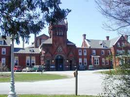 The most overpopulated is Huntingdon Prison (pictured), which houses 440 more inmates than it should.