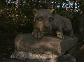 The Lion Shrine sits just a few feet from what was New Beaver Field, a place Penn State called home for 50 seasons.