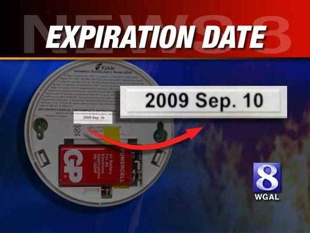 And remember to regularly check your smoke detectors. And be sure to look for the expiration date, as shown above.