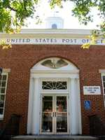 The front of the Lititz Post Office.