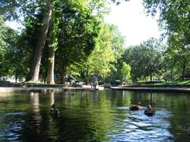 Lititz Springs Park is seven acres and can be found off Route 501 in downtown Lititz.