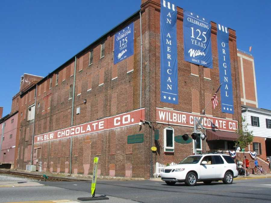 "The Wilbur's Chocolate Factory is a main draw for visitors to Lititz, many who are anxious to try the famous ""buds."""