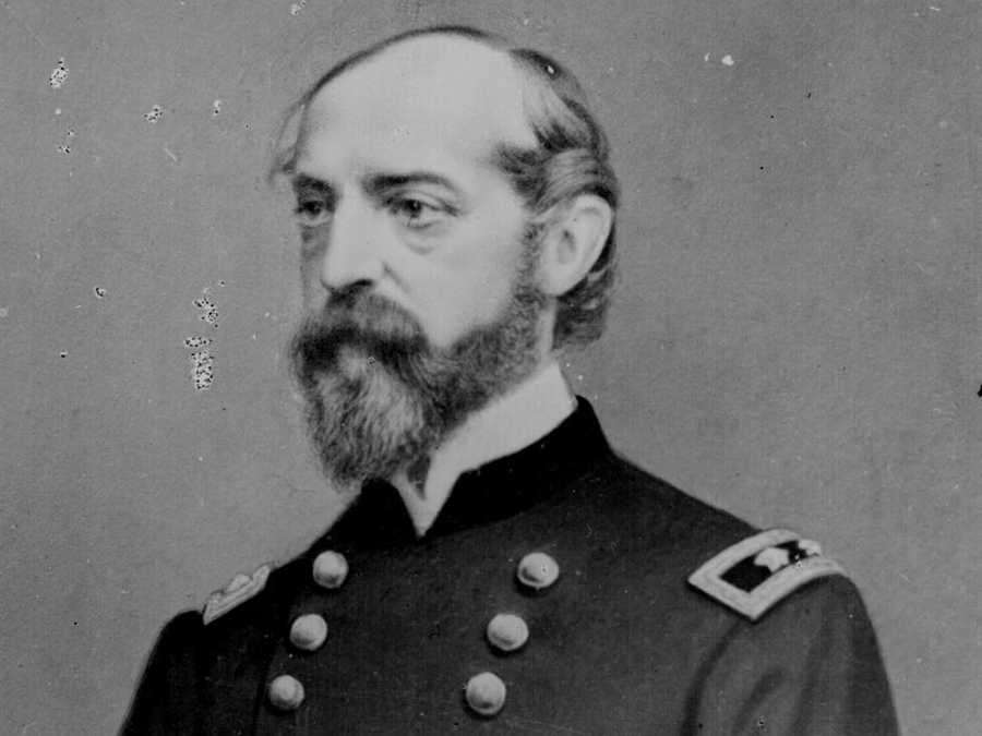 The Leister House became the improvised headquarters of this man, General George Meade, the top general of the Union troops at Gettysburg.