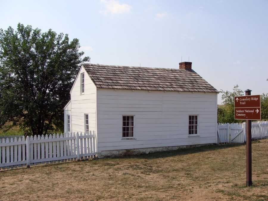"""The home is known as Leister house. In 1853, Lydia Leister, a widow, lived here. But it was some unexpected """"guests"""" that secured the home's place in history."""