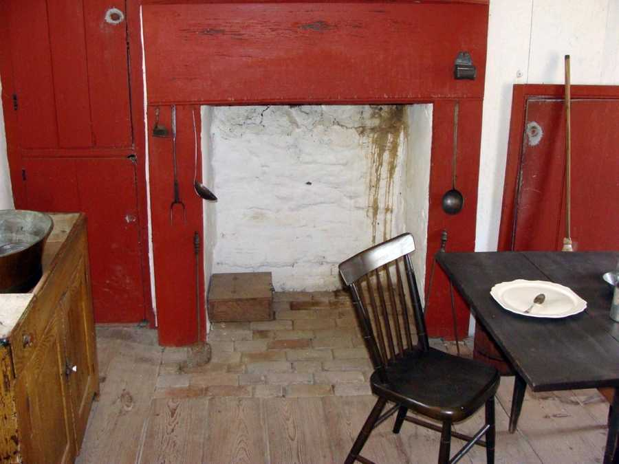 The two-room house, which has been restored, has a single fireplace. Again, the public is not allowed inside this house. The National Park Service gave News 8 special access.