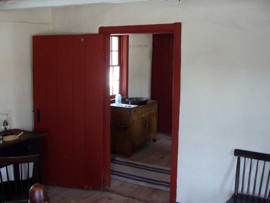 This is a look into the other room at the Leister House. The lone bedroom.