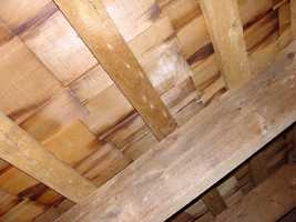 This is the underside of the Leister House roof.