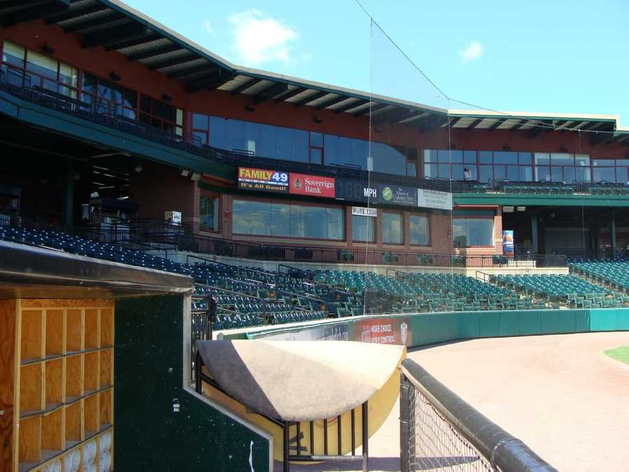 A view of the stands from the home dugout.