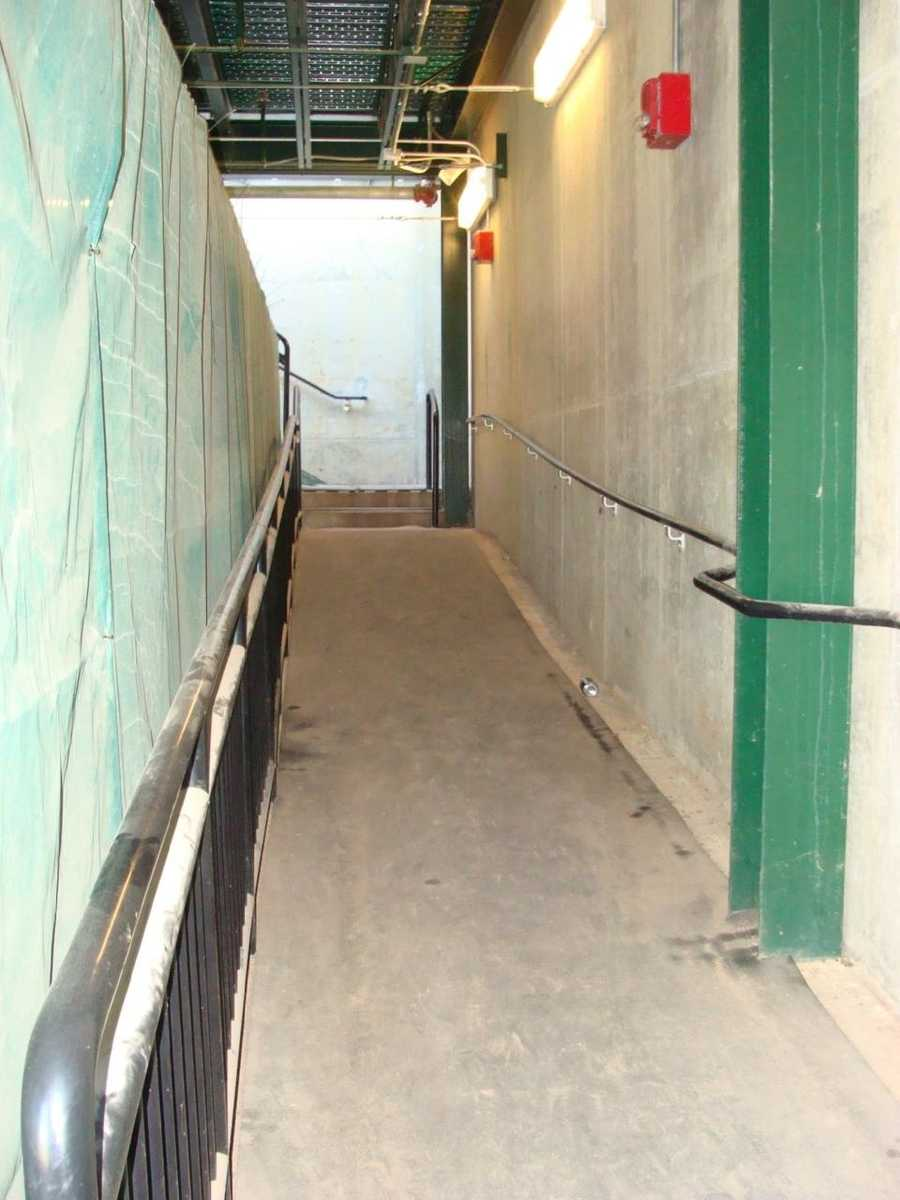 This is the path the York Revolution players take to get to the field.