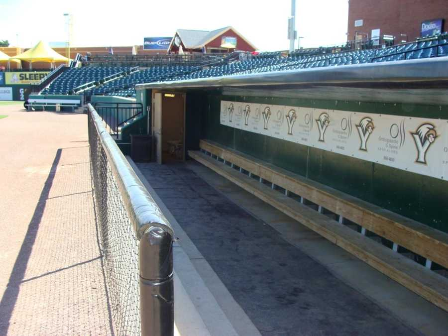 A shot of the home dugout.