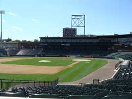 View of the field from the Hot Spot, located in line with third.
