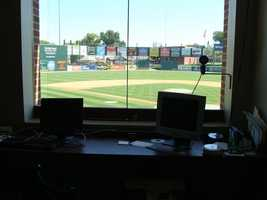 There is also a computer that controls live streaming of the games. Each game is streamed on the Revs' website, and can be viewed from anywhere in the world thanks to the camera feeds on the field.